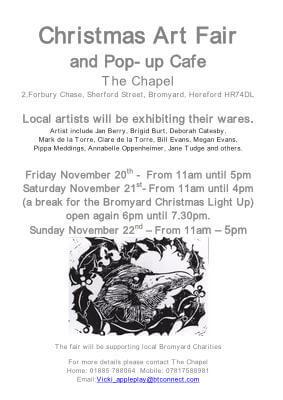 Christmas Art Fair and Pop-up Cafe