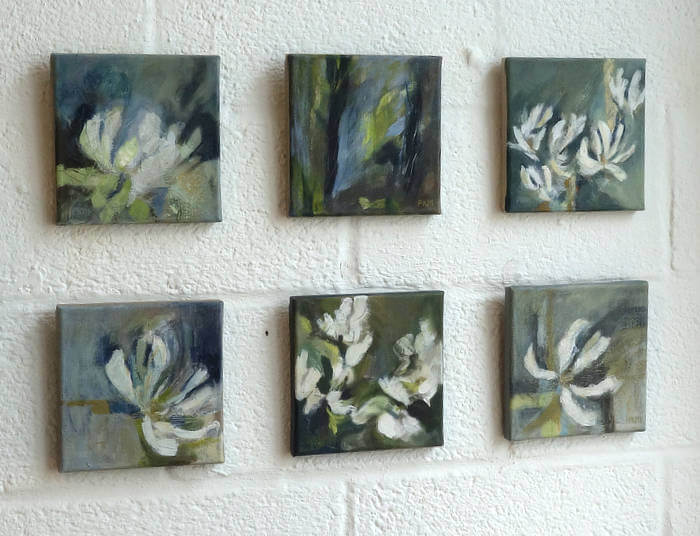 Pippa Meddings, cosmos paintings - h.Art 2018 - Blue-GInger Gallery