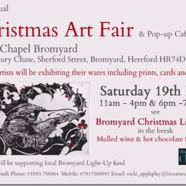 Christmas Art Fair at The Chapel Bromyard: Saturday 19th November